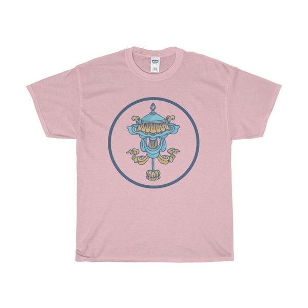 Unisex Heavy Cotton Tee Victory Banner (Dhvaja) Buddhist Symbol T-Shirt - Light Pink / S - T-Shirt