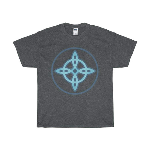 Unisex Heavy Cotton Tee Witches Knot Wiccan Spiritual Symbol T-Shirt - Dark Heather / L - T-Shirt