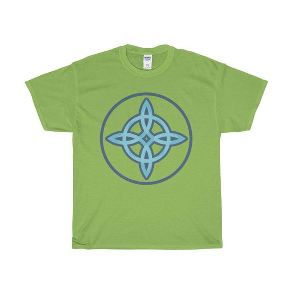 Unisex Heavy Cotton Tee Witches Knot Wiccan Spiritual Symbol T-Shirt - Lime / S - T-Shirt