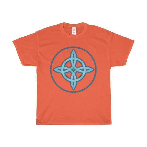 Unisex Heavy Cotton Tee Witches Knot Wiccan Spiritual Symbol T-Shirt - Orange / S - T-Shirt