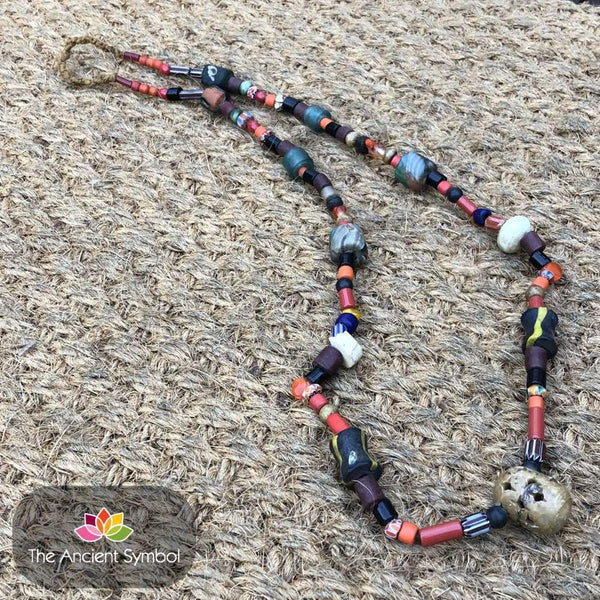 Unusual Indian Beaded Necklace. Large Variety Of Antique / Vintage Beads