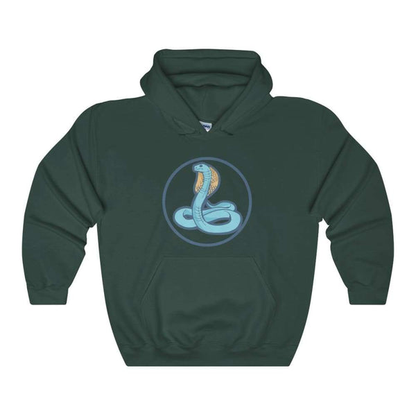 Uraeus Ancient Egyptian Symbol Unisex Heavy Blend Hooded Sweatshirt - Forest Green / S - Hoodie