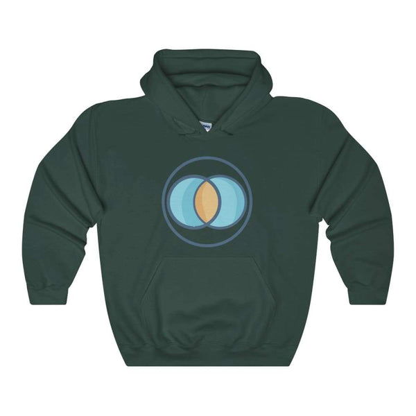 Vesica Piscis Christian Symbol Unisex Heavy Blend Hooded Sweatshirt - Forest Green / S - Hoodie