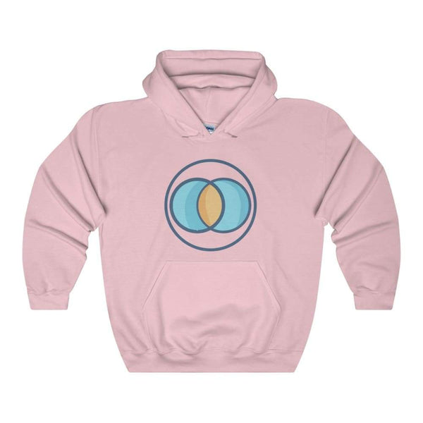 Vesica Piscis Christian Symbol Unisex Heavy Blend Hooded Sweatshirt - Light Pink / S - Hoodie