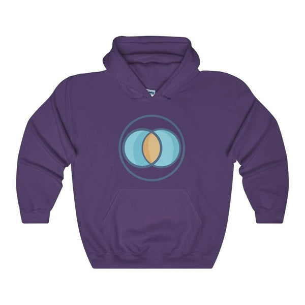 Vesica Piscis Christian Symbol Unisex Heavy Blend Hooded Sweatshirt - Purple / S - Hoodie