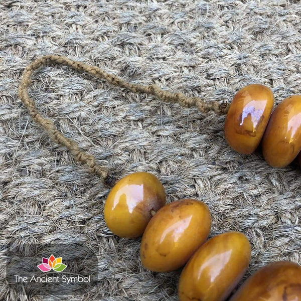 Vintage Large Nepalese Copal Amber Beaded Necklace