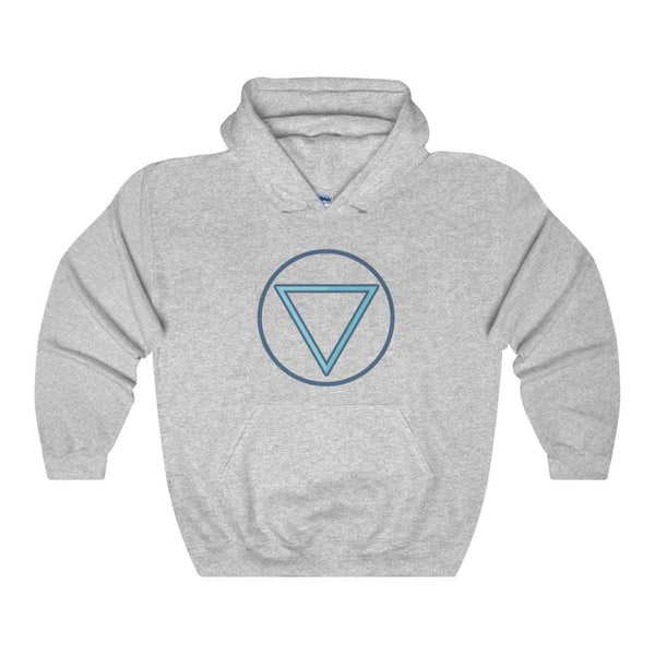 Water Element Wiccan Alchemy Symbol Unisex Heavy Blend Hooded Sweatshirt - Sport Grey / L - Hoodie