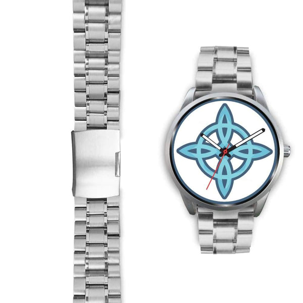 Witches Knot Wiccan Pagan Spiritual Symbol Custom-Designed Wrist Watch - Silver Watch