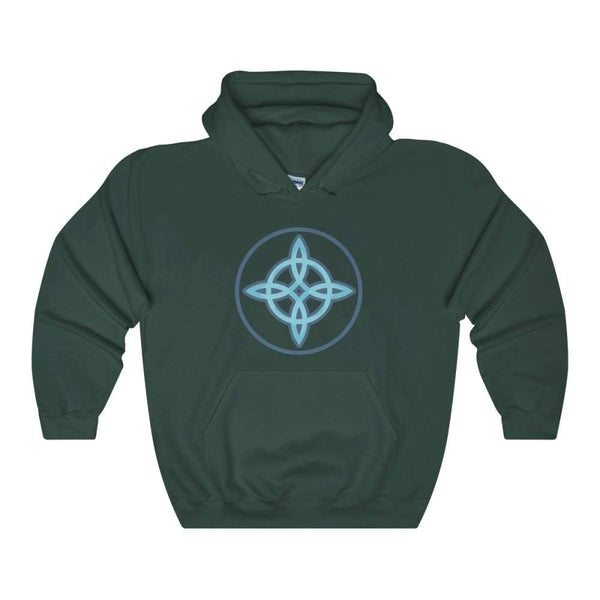 Witches Knot Wiccan Spiritual Symbol Unisex Heavy Blend Hooded Sweatshirt - Forest Green / S - Hoodie