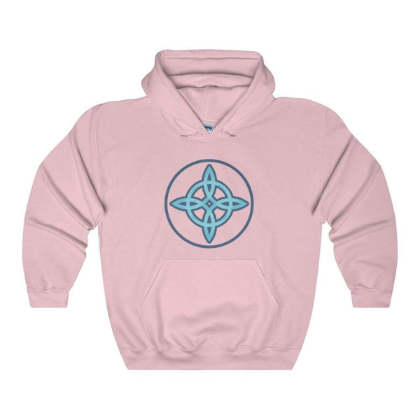 Witches Knot Wiccan Spiritual Symbol Unisex Heavy Blend Hooded Sweatshirt - Light Pink / S - Hoodie