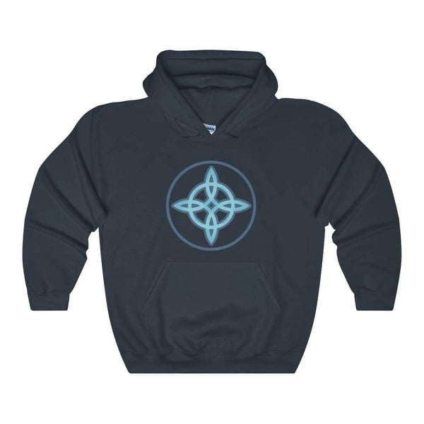 Witches Knot Wiccan Spiritual Symbol Unisex Heavy Blend Hooded Sweatshirt - Navy / S - Hoodie