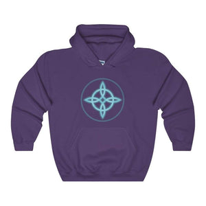 Witches Knot Wiccan Spiritual Symbol Unisex Heavy Blend Hooded Sweatshirt - Purple / L - Hoodie
