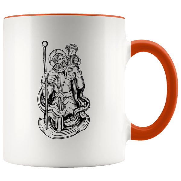 Saint Christopher 11oz. Ceramic White Mug