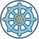 Buddhist symbol, the dharma wheel meaning. what is buddhism?