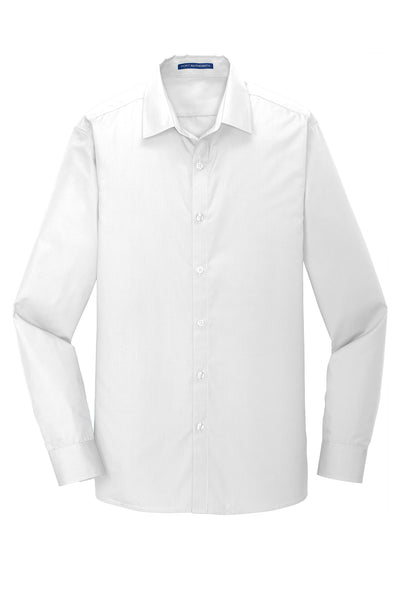 Port Authority ® Slim Fit Long Sleeve Carefree Poplin Shirt