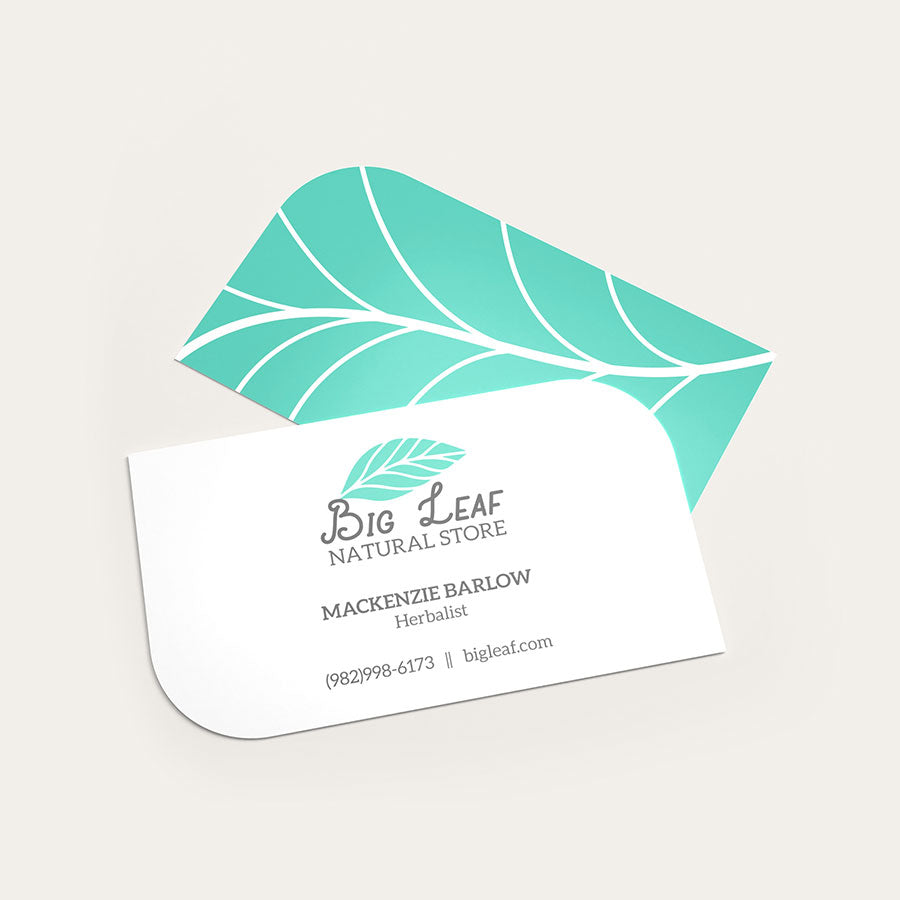Business Cards Leaf-Shaped