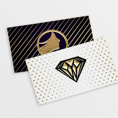 Business Cards Raised Foil Gold