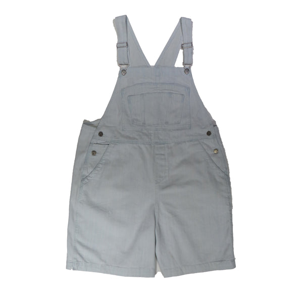 BoundOveralls Plus Size Women's Overall Shorts - Bleached Wash