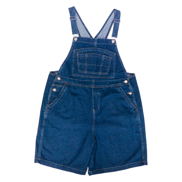 BoundOveralls Plus Size Women's Overall Shorts - Dark Wash