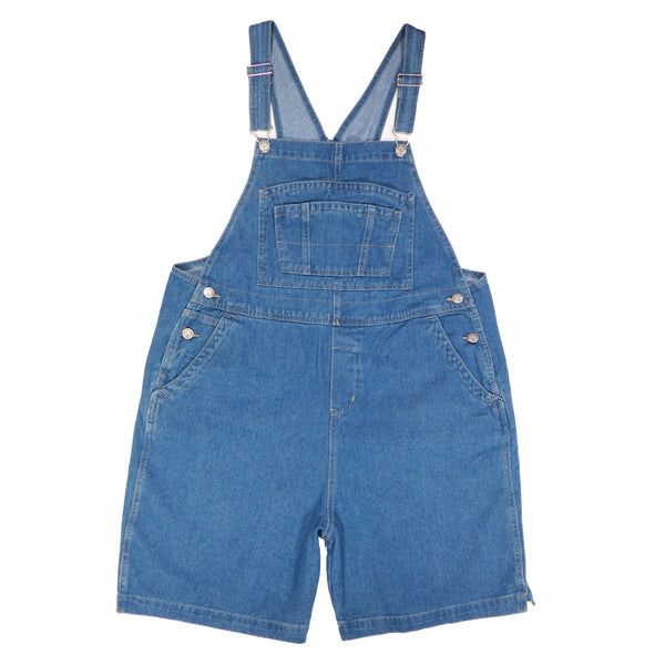 BoundOveralls Plus Size Women's Overall Shorts - Medium Wash