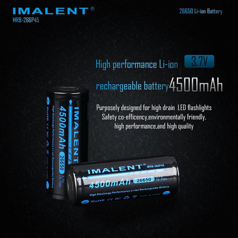 26650 4500mah Battery for DN35 and DN70 - imalentstore