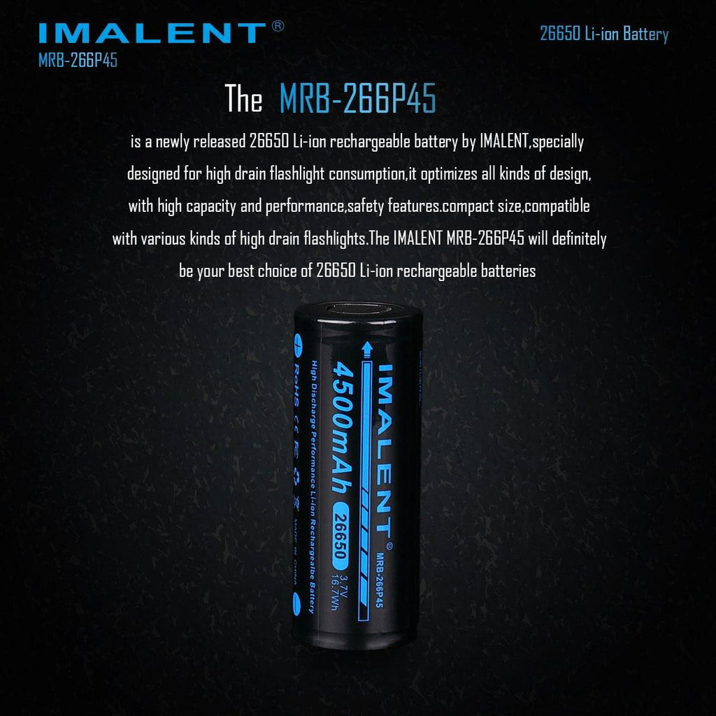 MRB-266P45 High-Capacity 26650 Battery - 4500mAh