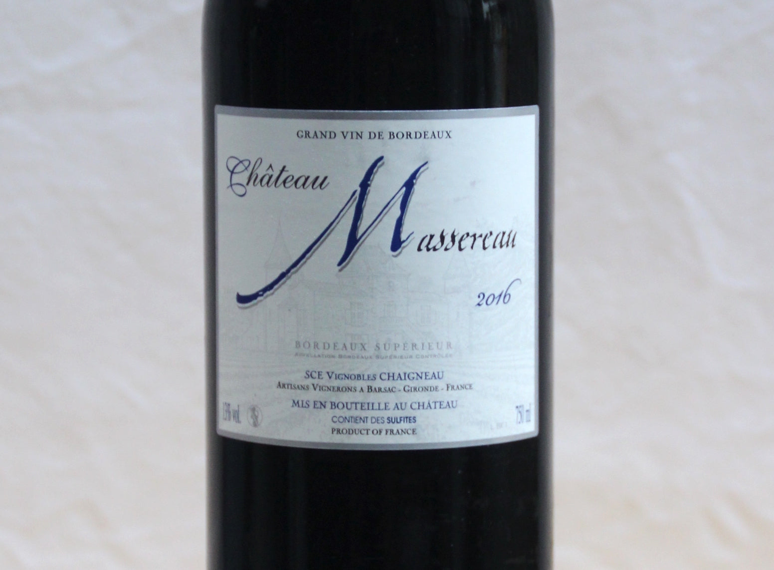 Bordeaux Superieur 2016 - Chateau Massereau - SOLD OUT