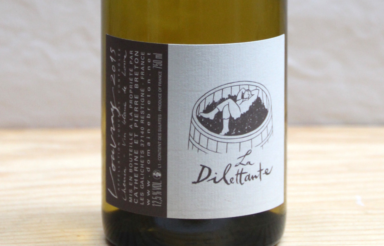 Vouvray La Dilettante sec 2015 - Domaine Breton - SOLD OUT