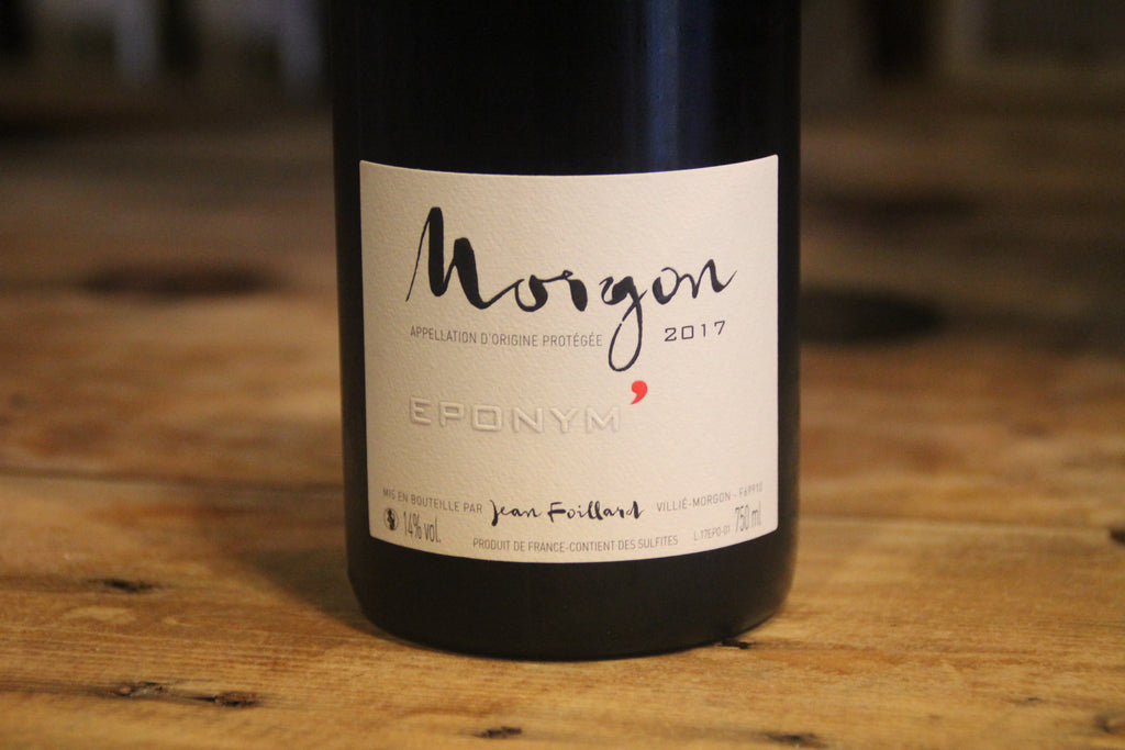 Morgon Eponym' 2017 - Domaine Jean Foillard - SOLD OUT