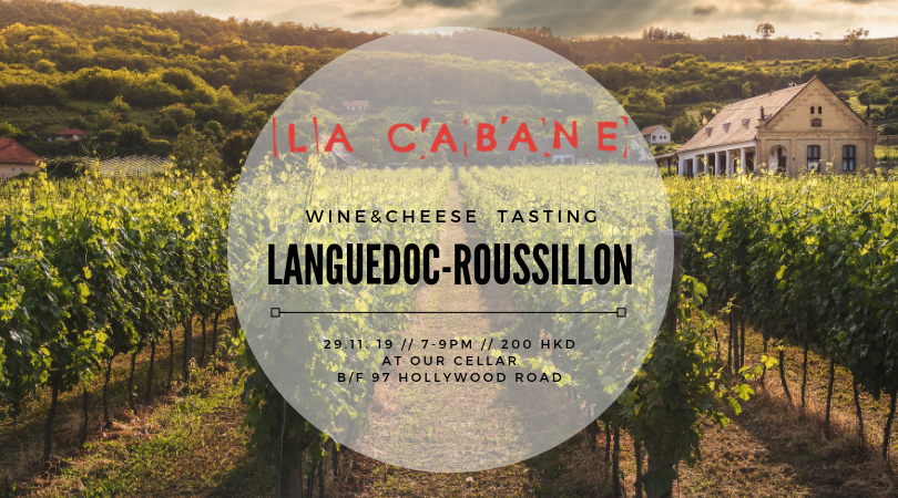Languedoc-Roussillon - wine & cheese tasting - 29.11.19