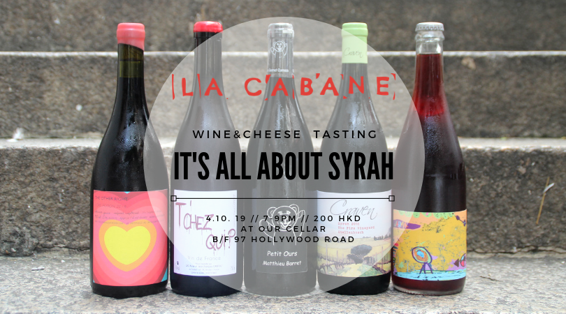 Syrah Tasting - wine & cheese tasting - 4.10.19