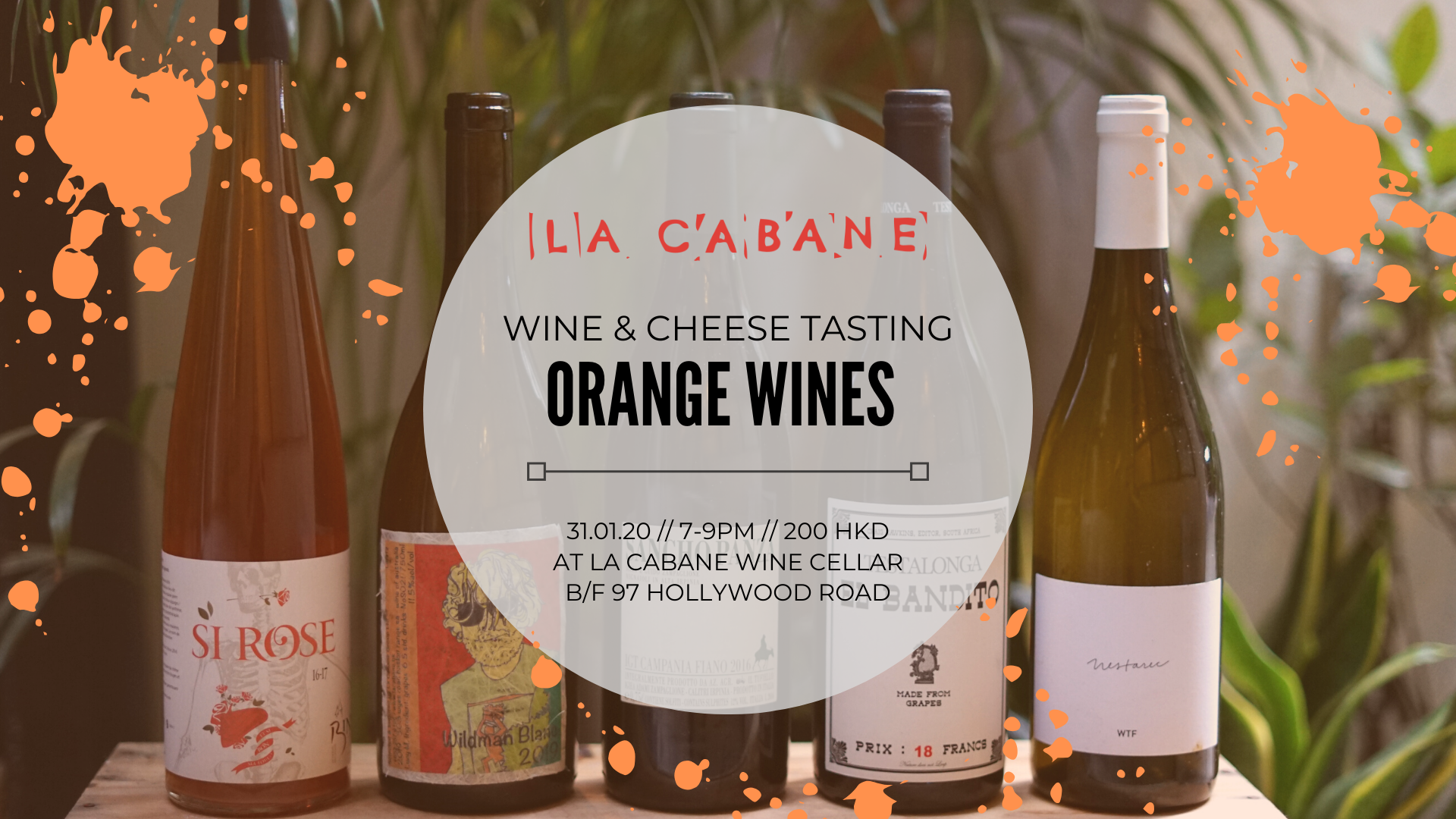 SPLASHIN' ORANGE  - wine & cheese tasting - 31.1.20