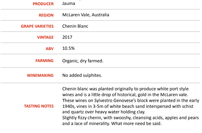 Chenin Blanc Sands On Schist 2017 - Jauma Wines