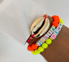 Load image into Gallery viewer, Fluo name bracelets