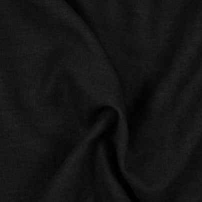 Linen: Black. Fabric Focus