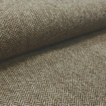 wool tweed brown herringbone, Fabric Focus