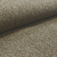 wool tweed brown herringbone