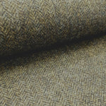 wool tweed dark olive herringbone