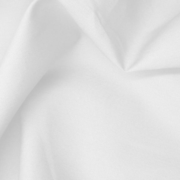 cotton poplin. white. Fabric Focus