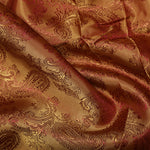 Viscose Paisley Lining: Orange/Red C19