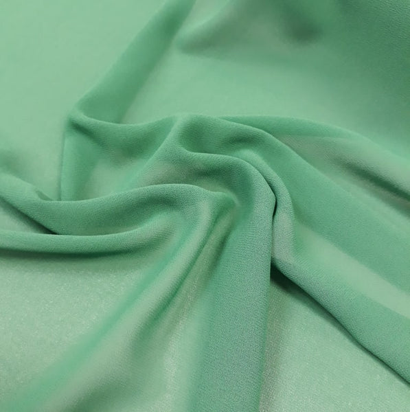 Polyester Georgette: Emerald