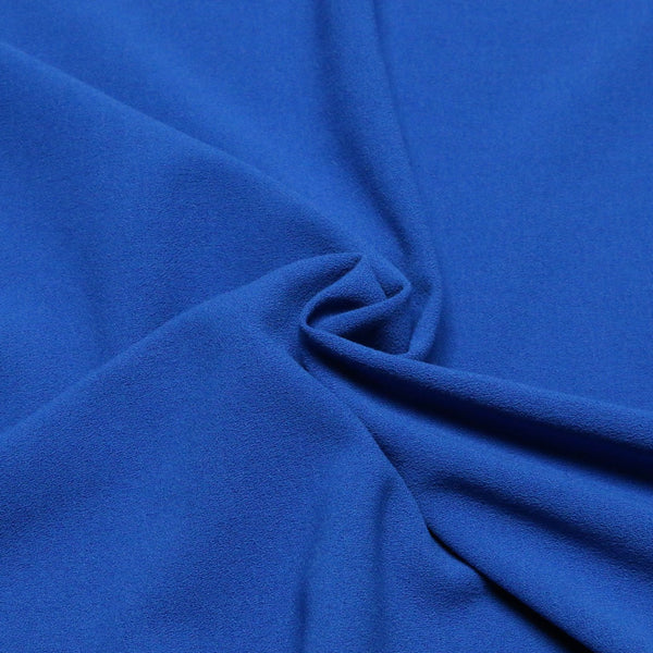 stretch crepe royal 344. Fabric Focus
