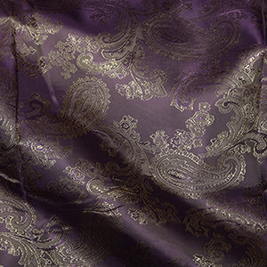 Viscose Paisley Lining: Purple/ Gold C27