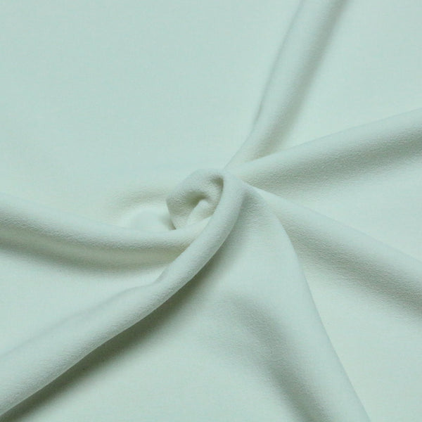 stretch crepe. 01 Ivory. Fabric Focus