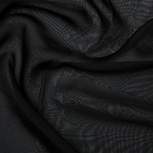 cationic chiffon. black. Fabric Focus