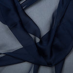 cationic chiffon. navy blue. Fabric Focus