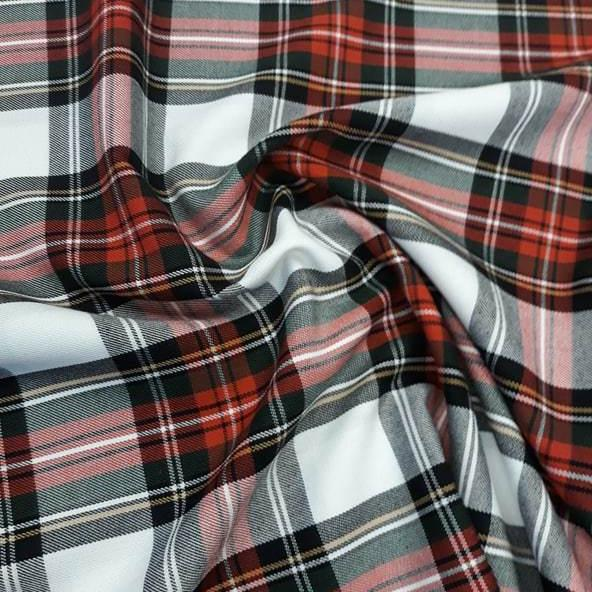 Poly Viscose Tartan Dress Stewart