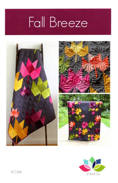 V & Co : FALL BREEZE patchwork quilt pattern