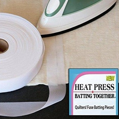 Heat Press Batting Together tape. Join wadding together. Fabric Focus