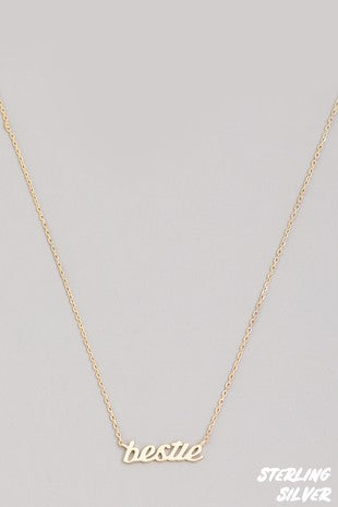 Bestie Necklace | Gold
